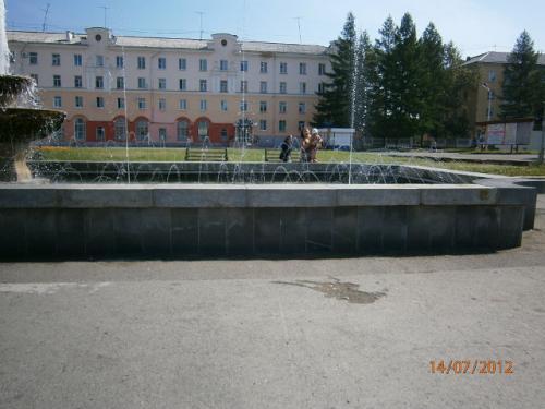 Фонтан на площади Мира