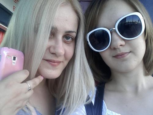 дочка Настенька и я